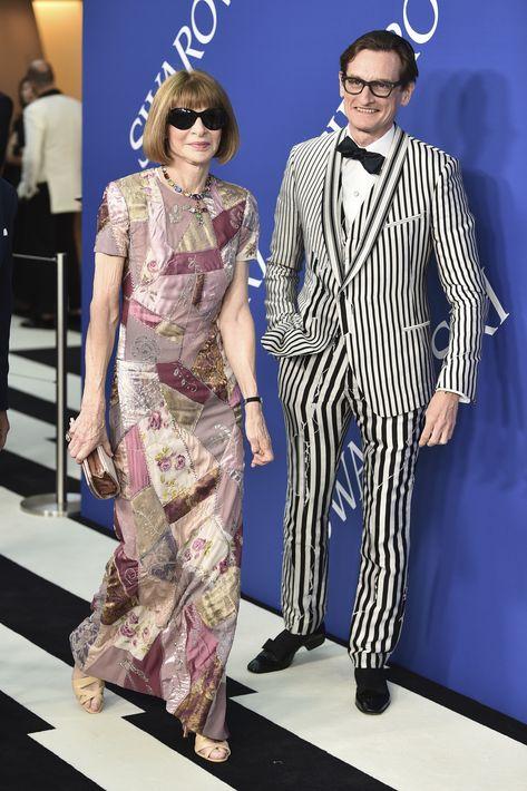 Anna Wintour y Hamish Bowles. (AP)
