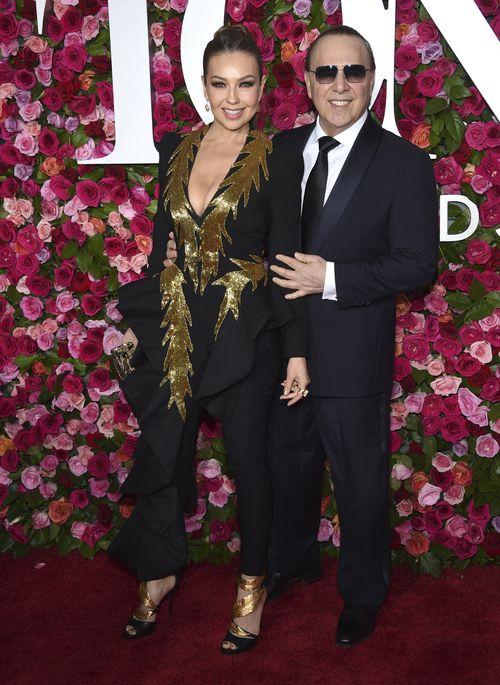 Thalia y Tommy Mottola. (AP)