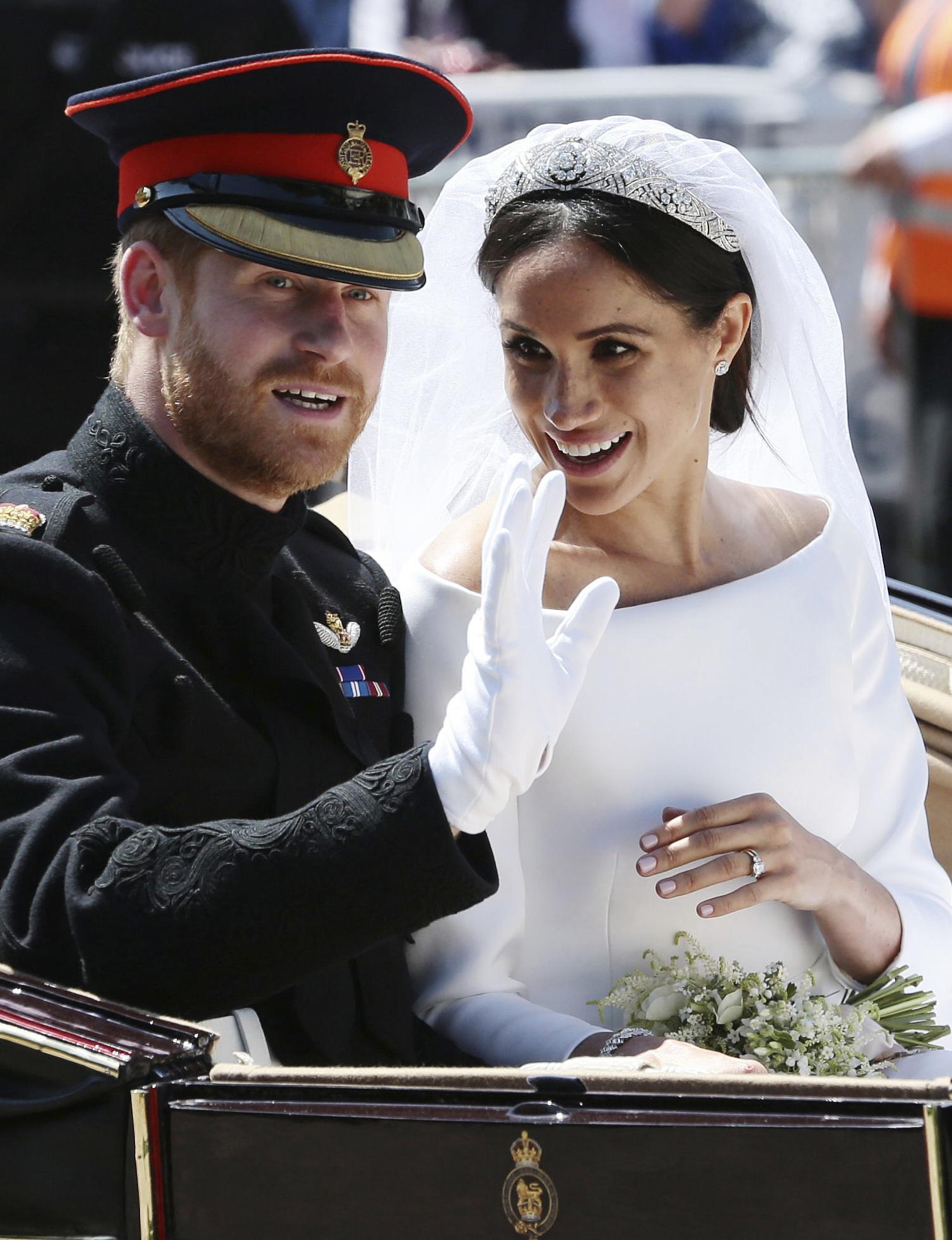 """Meghan y Harry contrajeron nupcias el 19 de mayo de 2019 en un evento que acaparó la atención de millones de personas alrededor del mundo. La ceremonia se llevó a cabo en la Capilla Saint George ante cientos de """"royals"""" y celebridades. (Archivo)"""