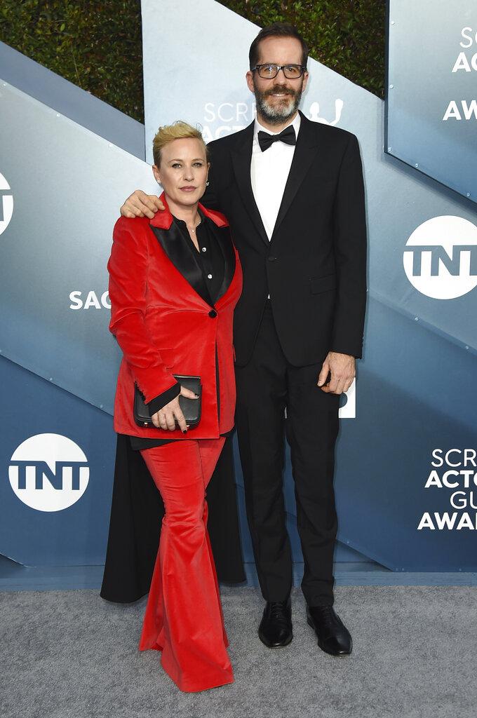 Patricia Arquette y Eric White. (AP)