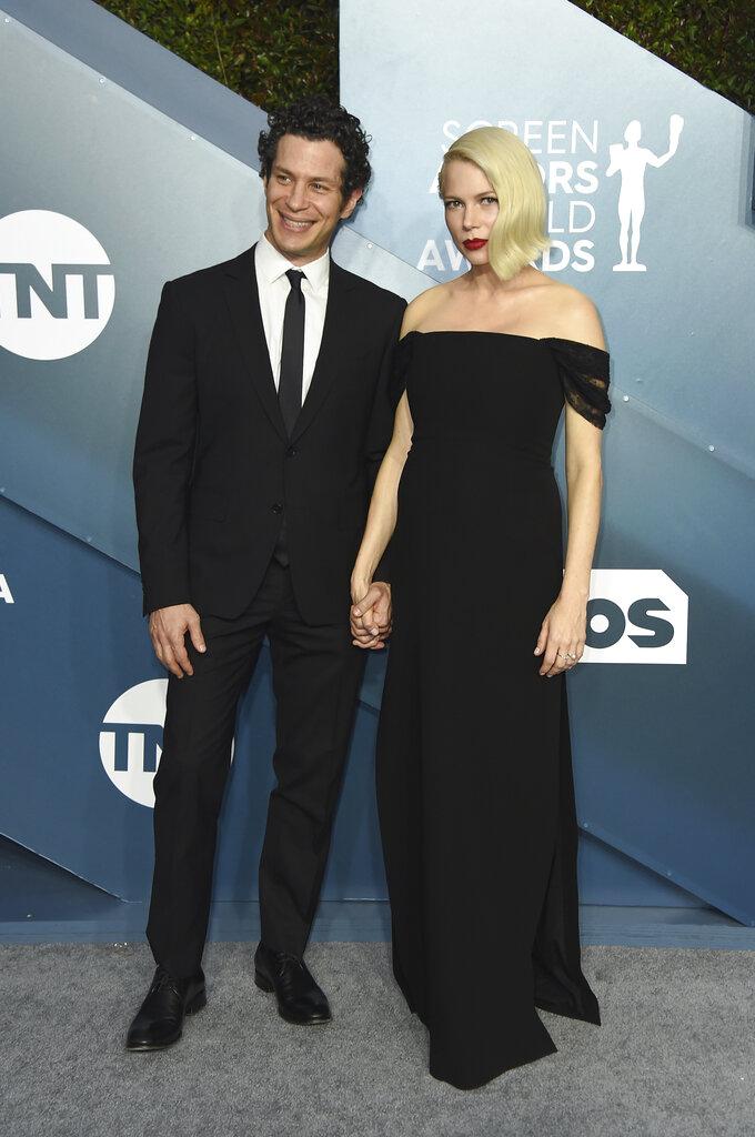 Thomas Kail y Michelle Williams. (AP)