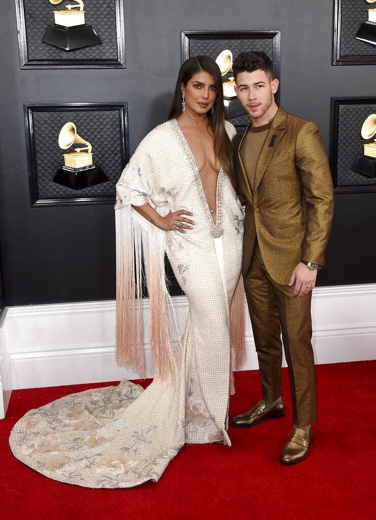 Priyanka Chopra y Nick Jonas. (AP)