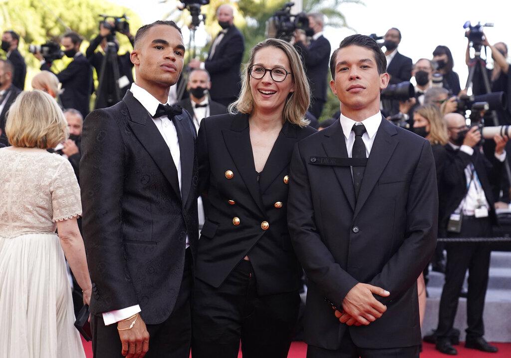 Theo Christine, Audrey Estrougo y Sandor Funtek. (AP)