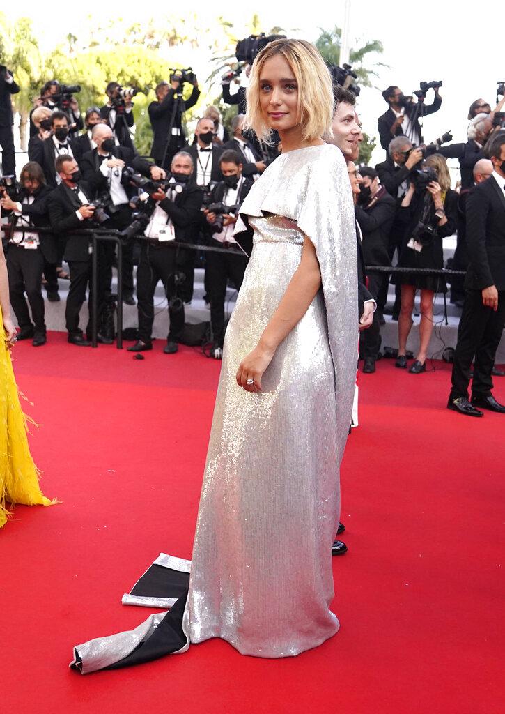 Denise Tantucci en la 74 edición del Festival de Cine de Cannes, en Cannes, Francia. (AP)