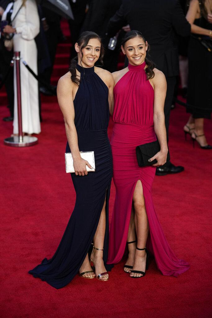 Jennifer Gadirova y Jessica Gadirova. (AP)