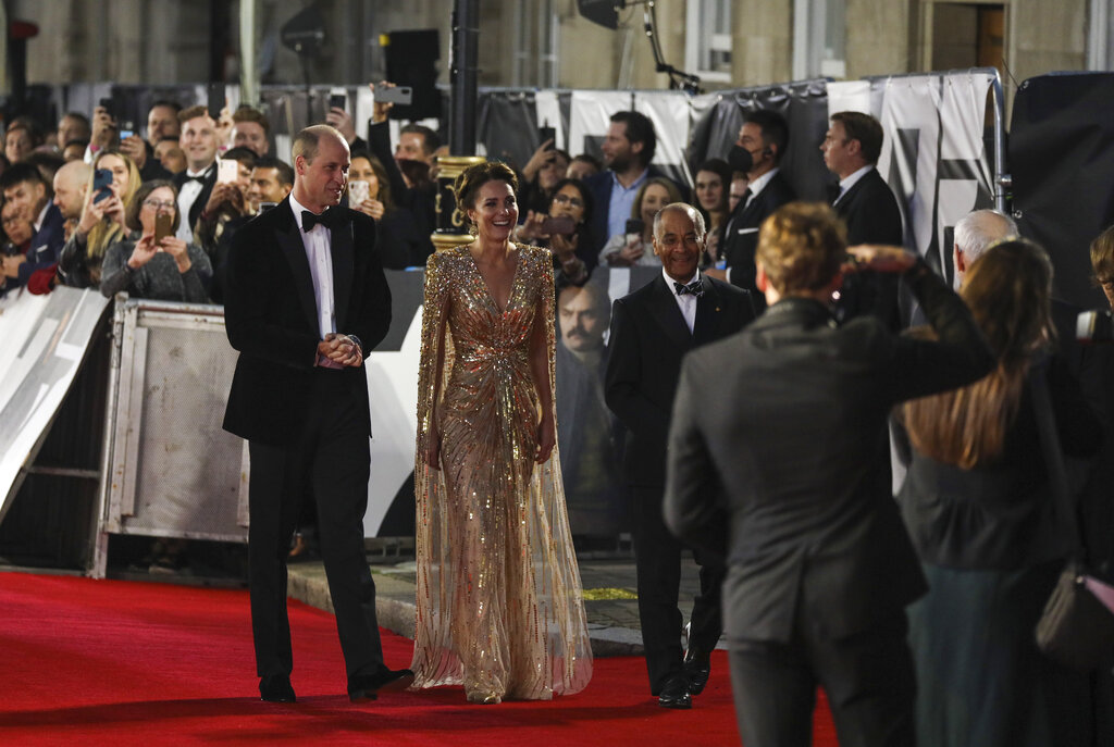 La alfombra roja se realizó en el Royal Albert Hall. (AP)