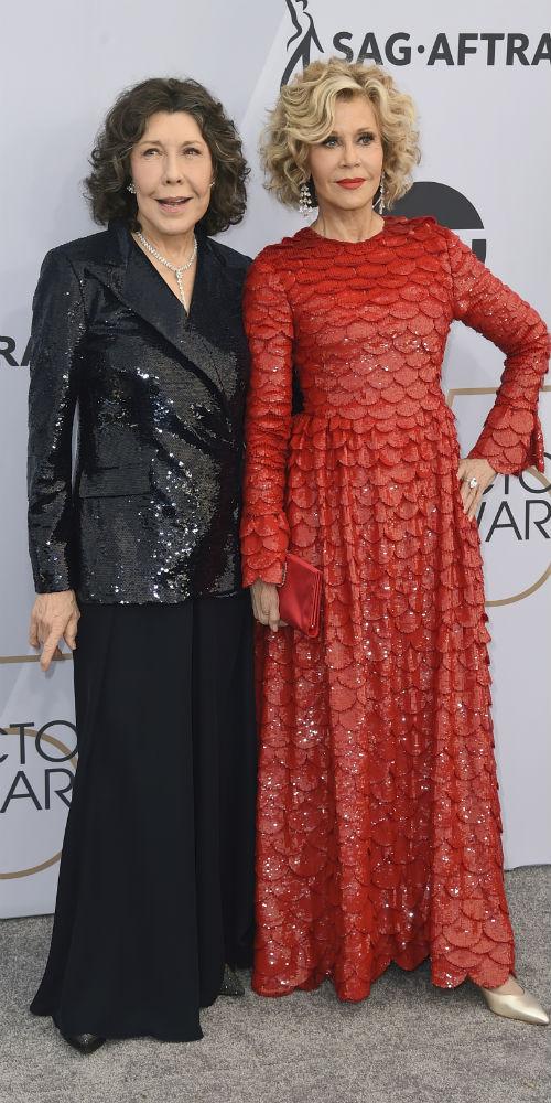 Lily Tomlin y Jane Fonda. (AP)