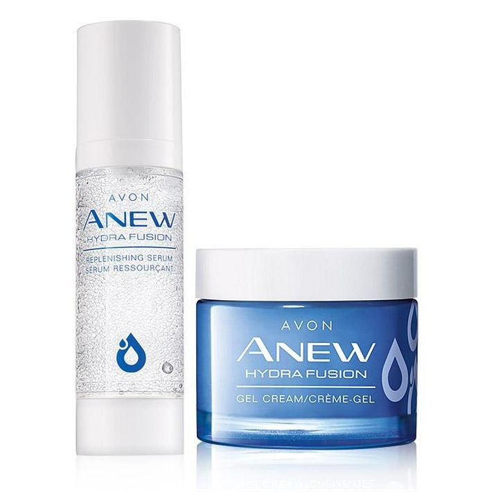 Anew Hydra Fusion de Avon consta de cinco productos entre los que se encuentran un agua micelar para eliminar impurezas, un suero que ayuda a restaurar la piel proveyendo una hidratación profunda, un gel que proporciona 72 horas de humectación, una crema de ojos y una mascarilla para usar mientras te bañas. (Suministrada)