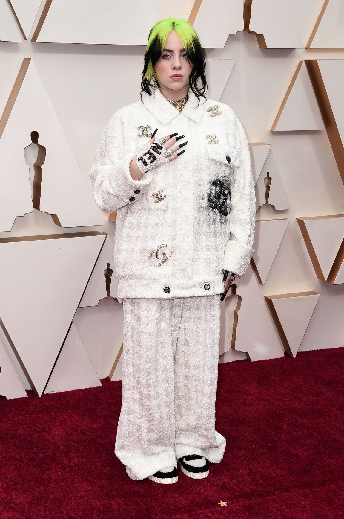 La cantante Billie Eilish en Chanel  (AP)