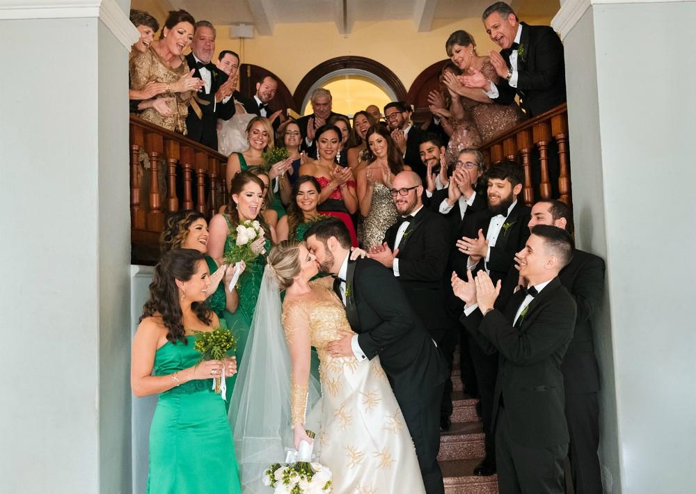 Vestido de la novia: Harry Robles (Suministrada)