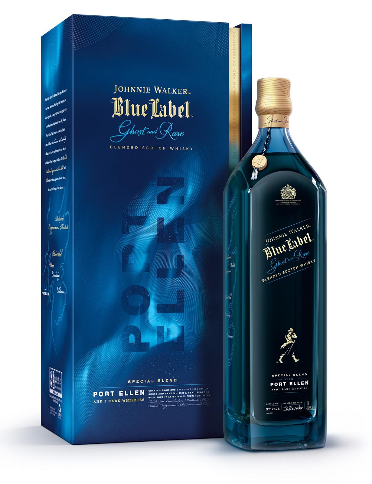 Edición limitada de Johnnie Walker Blue Label Ghost and Rare Port de La Bodega de Méndez y tiendas seleccionadas, del Master Blender Jim Beveridge hecho con ocho de los whiskys más complejos de cuatro rincones de Escocia. (Suministrada)