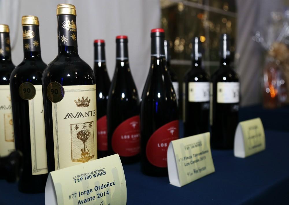 Parte de la variedad de vinos que fueron degustados en la actividad. (Suministrada)
