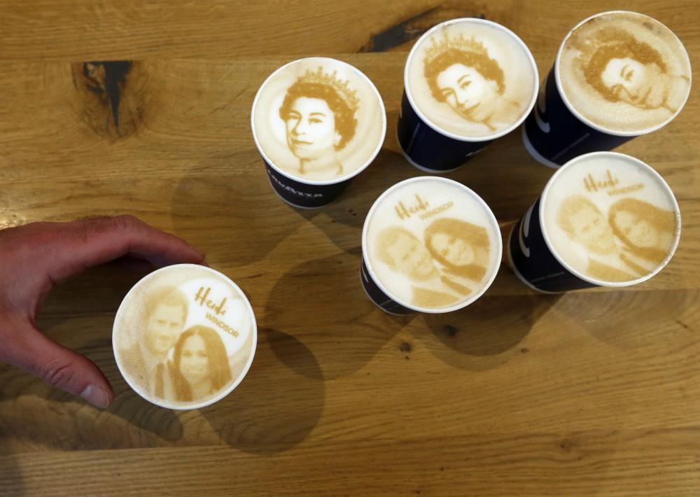 La creatividad llegó hasta la espuma del café en Londres. (Foto: AP)