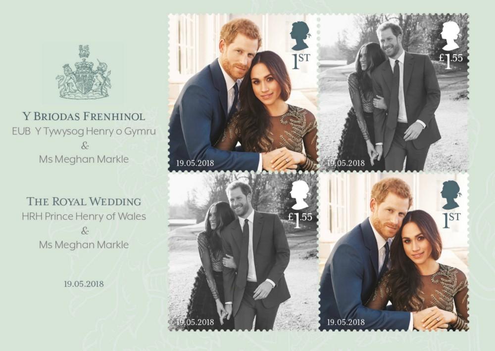 El Royal Mail lanzó los sellos de la serie conmemorativa de la boda (Foto: AP)