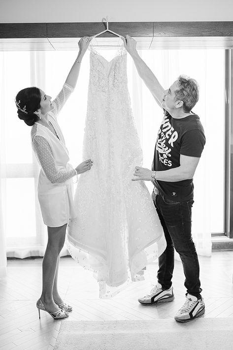 Vestido de la novia: Harry Robles