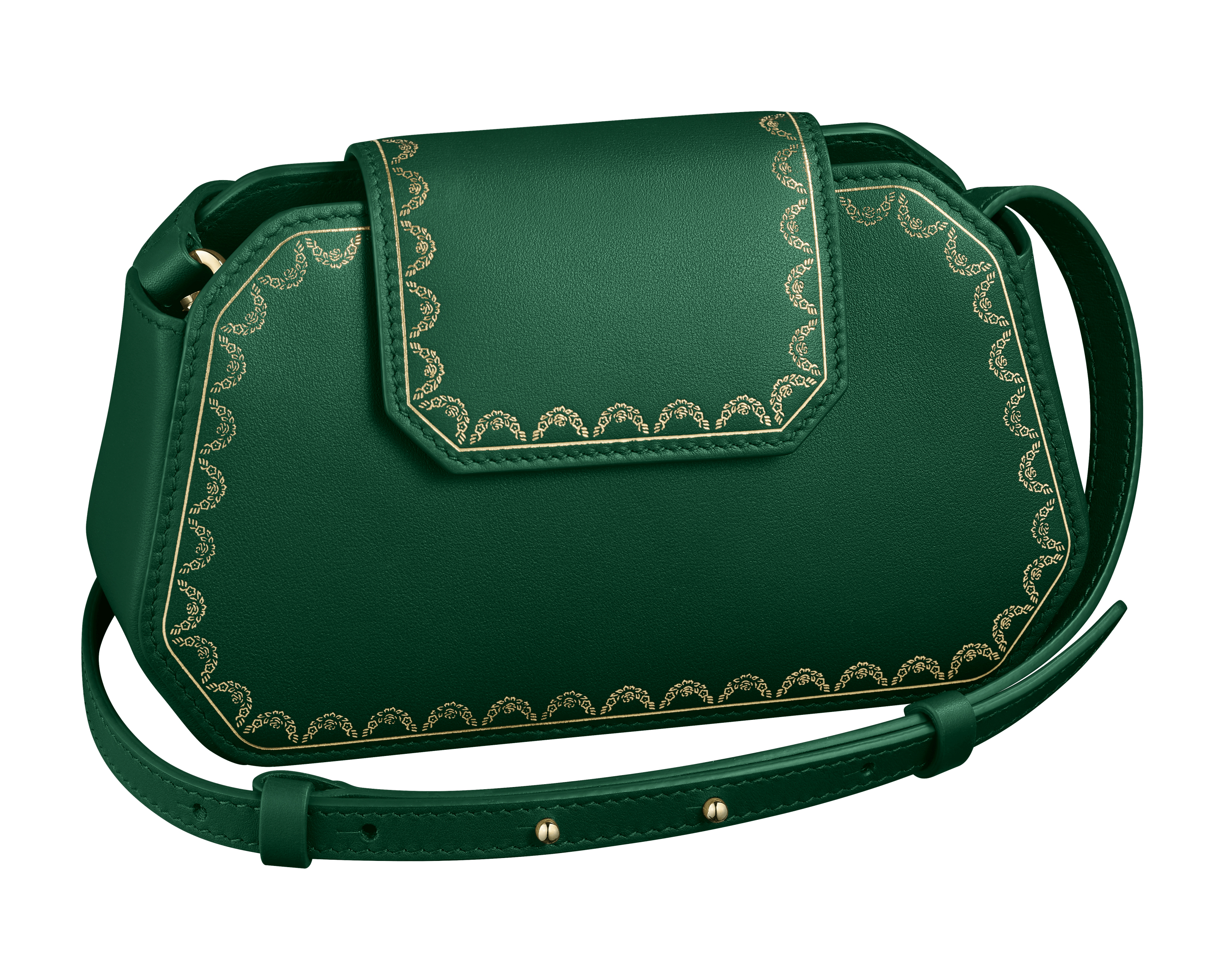 """Cartera Guirlande de Cartier representa el espíritu de la casa. El modelo """"nano"""" está disponible en verde, negro y rojo. (Suministrada)"""