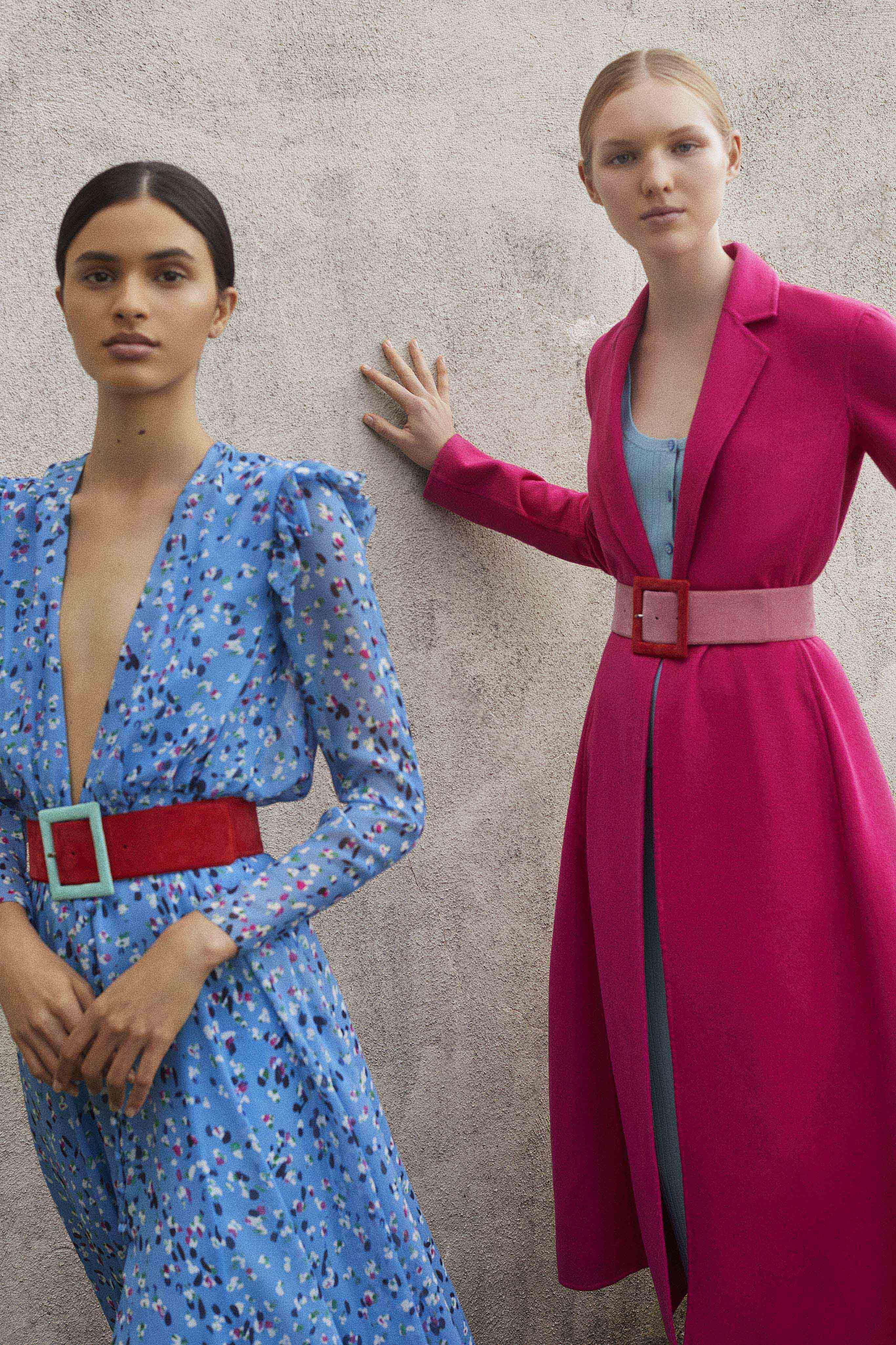 La diseñadora venezolana Carolina Herrera juega con los contrastes sobre la cintura en su colección primavera-verano. Foto: WGSN.