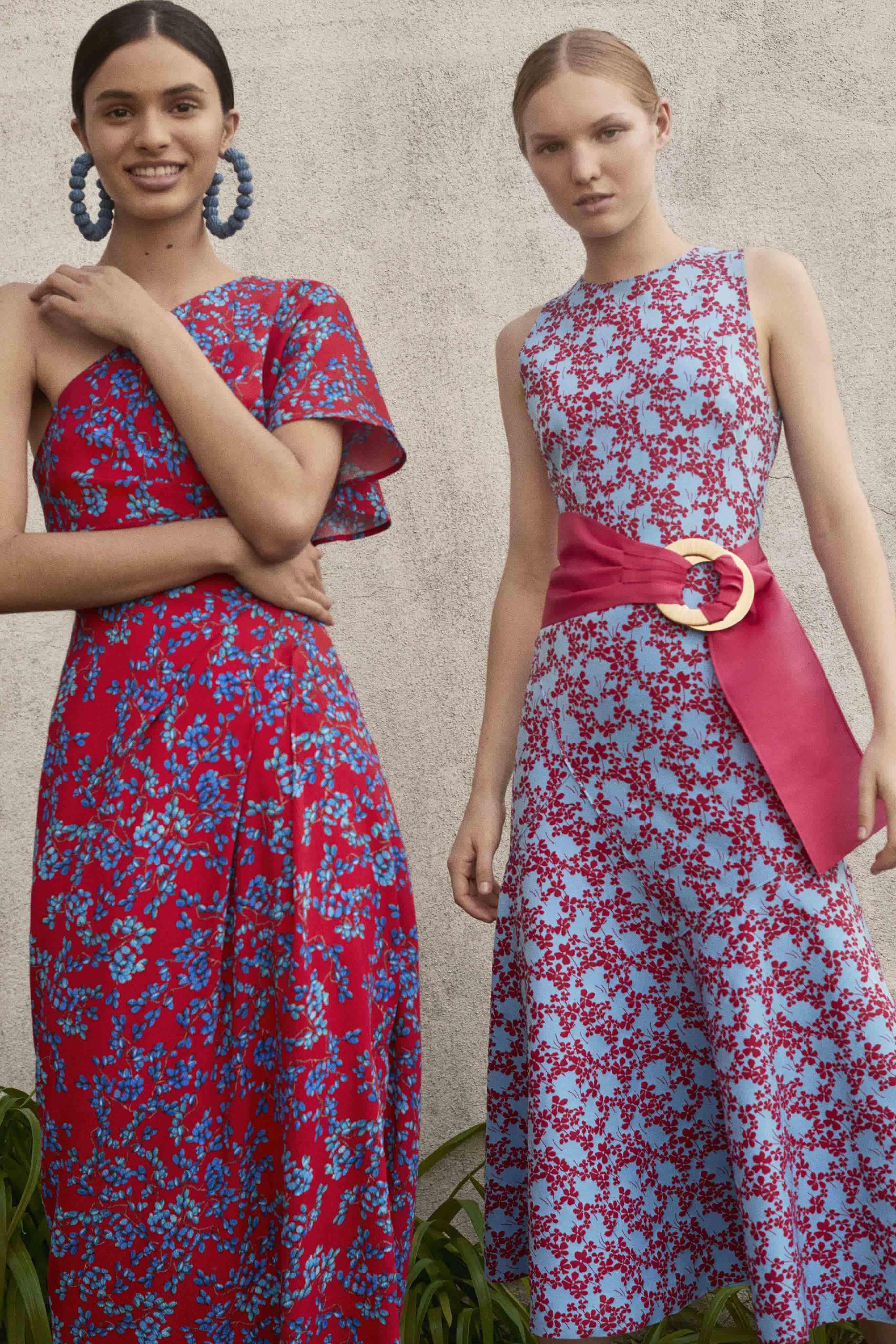 Los tonos morados fueron protagonistas de la colección primavera-verano de Carolina Herrera. Foto: WGSN.