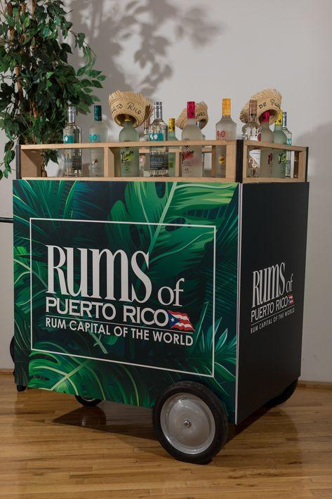 El carrito de piraguas de la recepción auspiciada por Rones de Puerto Rico. (Suministrada)