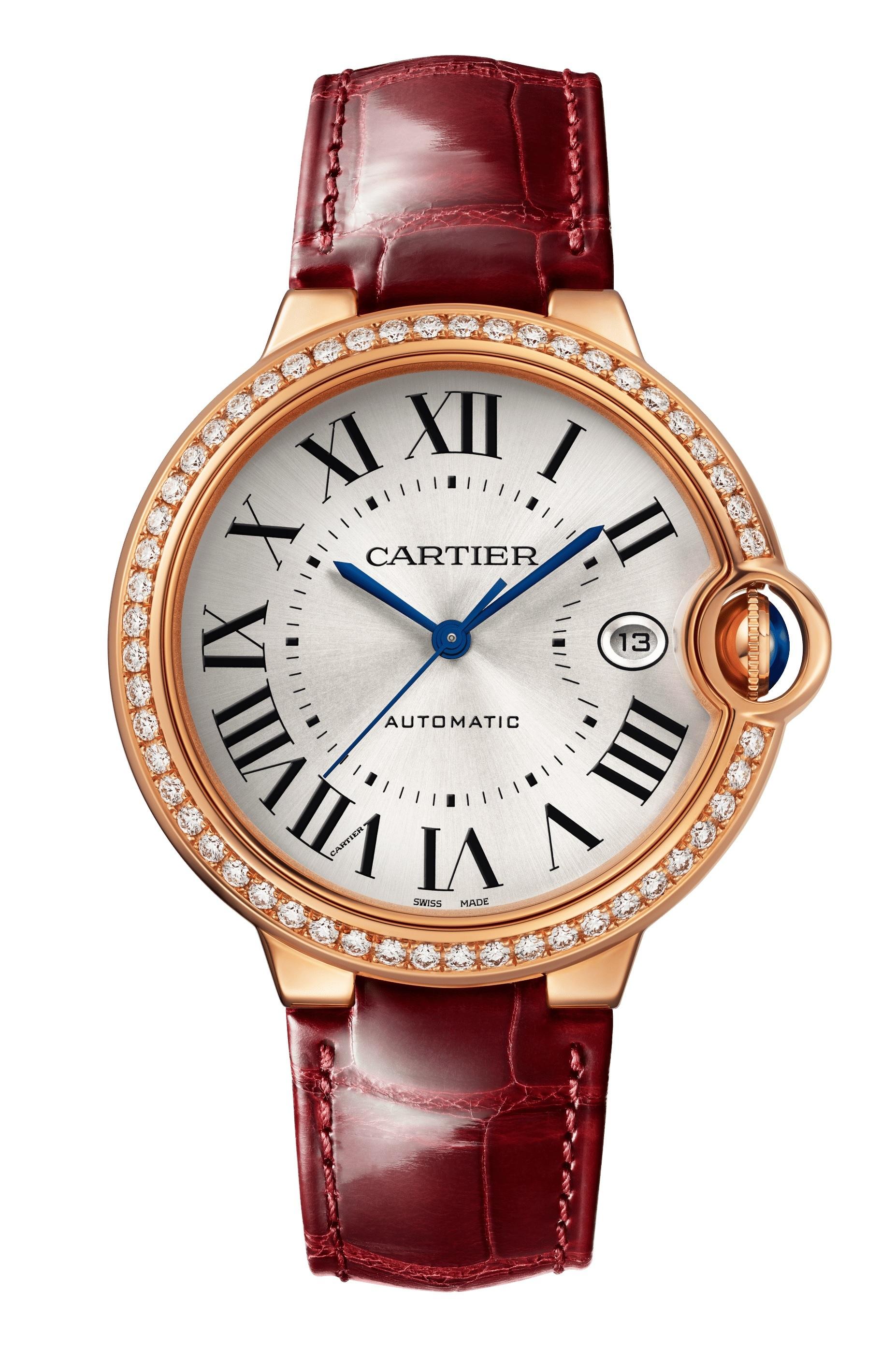 Reloj Ballon Bleu de Cartier, disponible en su tienda en la Avenida Ashford en Condado.