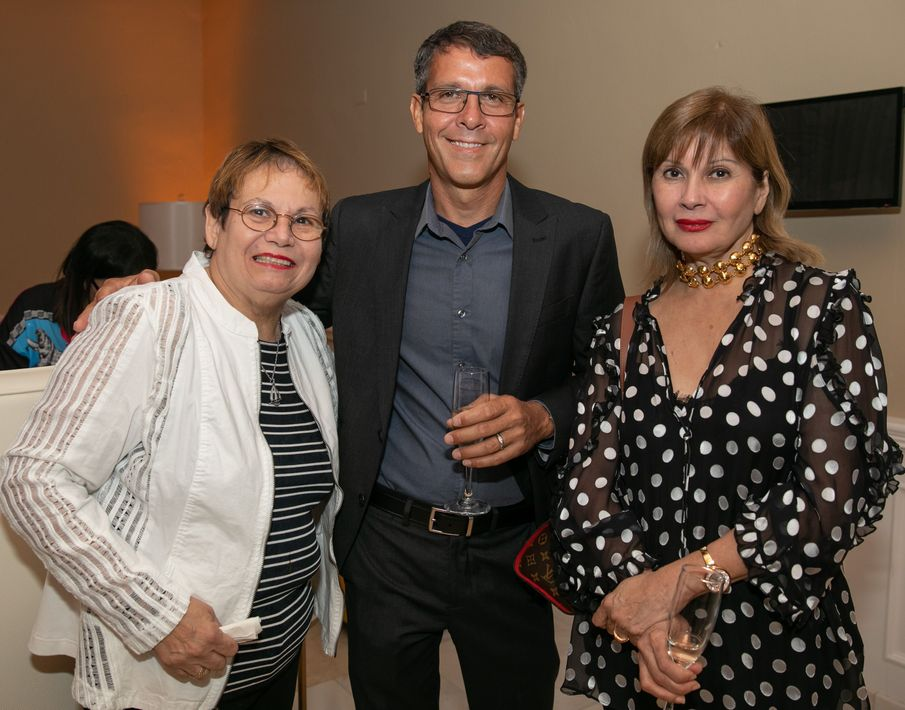 Chef Mirta Pérez, Efraín Rosado, Norma Guadalupe. Foto suministrada