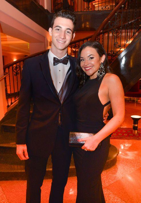Paola Jiménez y Etienne Scaccino, en el Prom Night de la Commonwealth-Parkville School en el hotel Condado Vanderbilt.