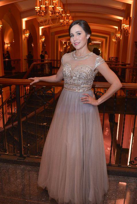 Rebecca Aponte en el Prom Night de la Commonwealth-Parkville School en el hotel Condado Vanderbilt.