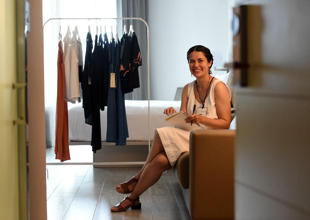 Sally Torres Vega también dijo presente con su colección de ropa femenina. (Foto: André Kang)