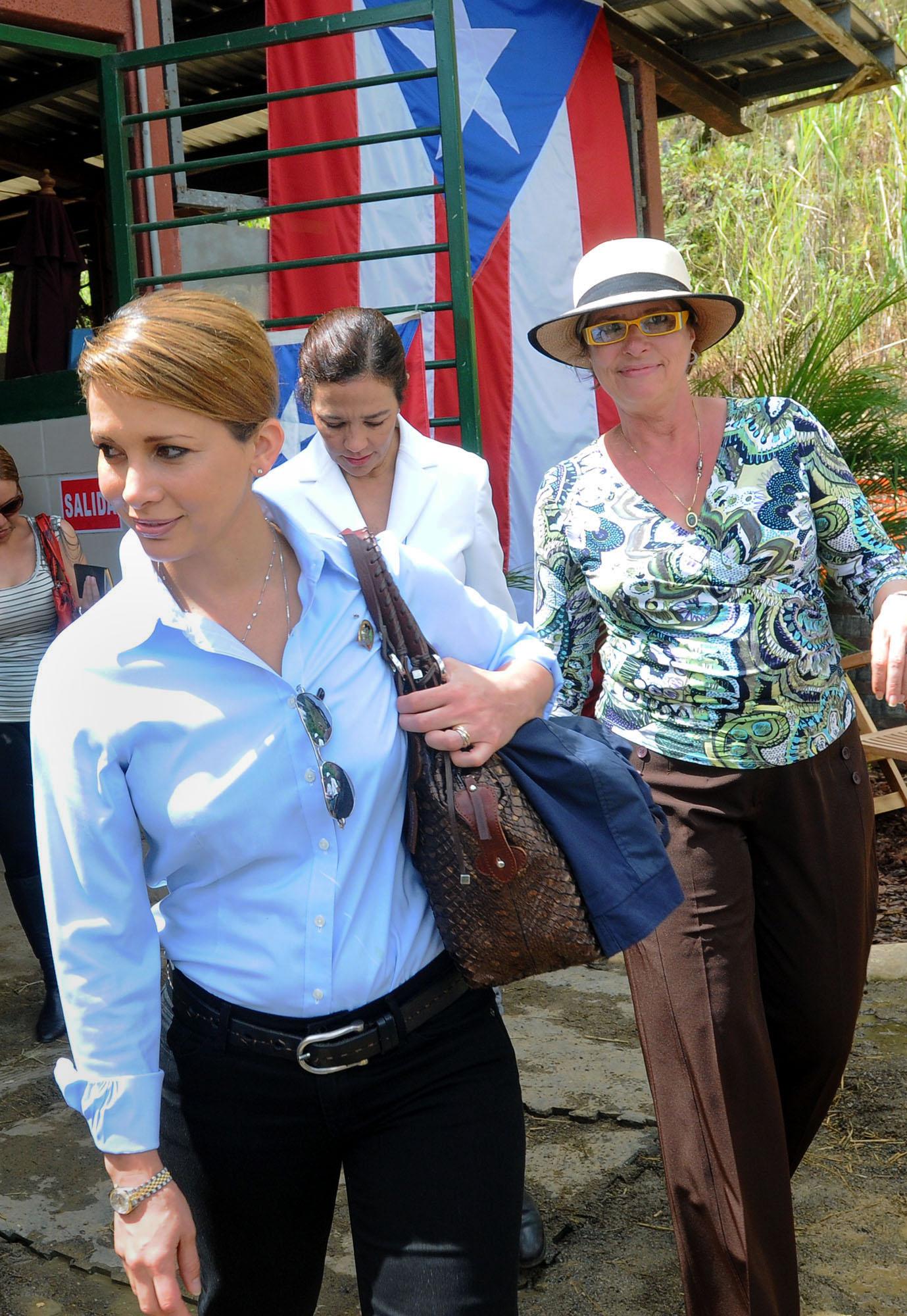 Fue como parte de su gestión como entonces presidenta de la Federación Ecuestre Internacional que Haya visitó la isla el 24 de julio de 2010 para presenciar las competencias ecuestres de los Juegos Centroamericanos y del Caribe Mayagüez 2010. (Archivo)