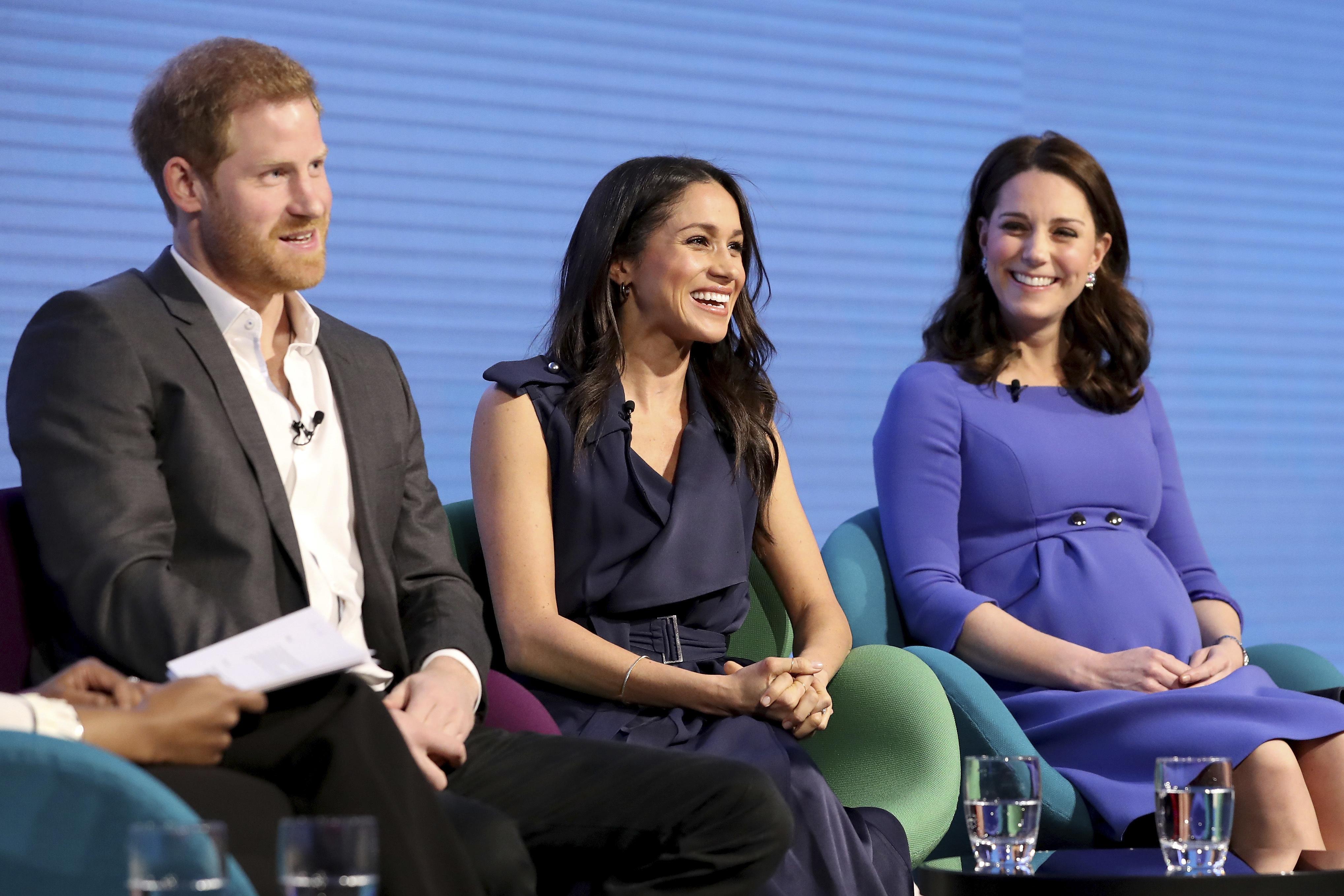 A finales de febrero de 2018, Meghan se unió por primera vez a su prometido, y a los duques de Cambridge en un foro en Londres donde debatieron proyectos pasados, presentes y futuros de la Fundación Real. (Archivo)