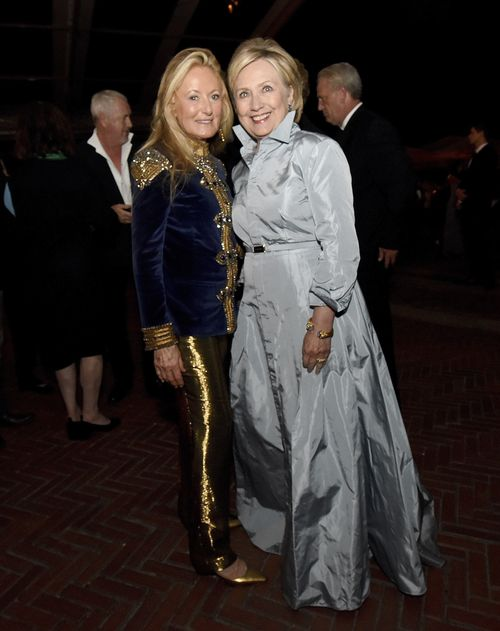 Hillary Clinton y Ricky Lauren (AP)