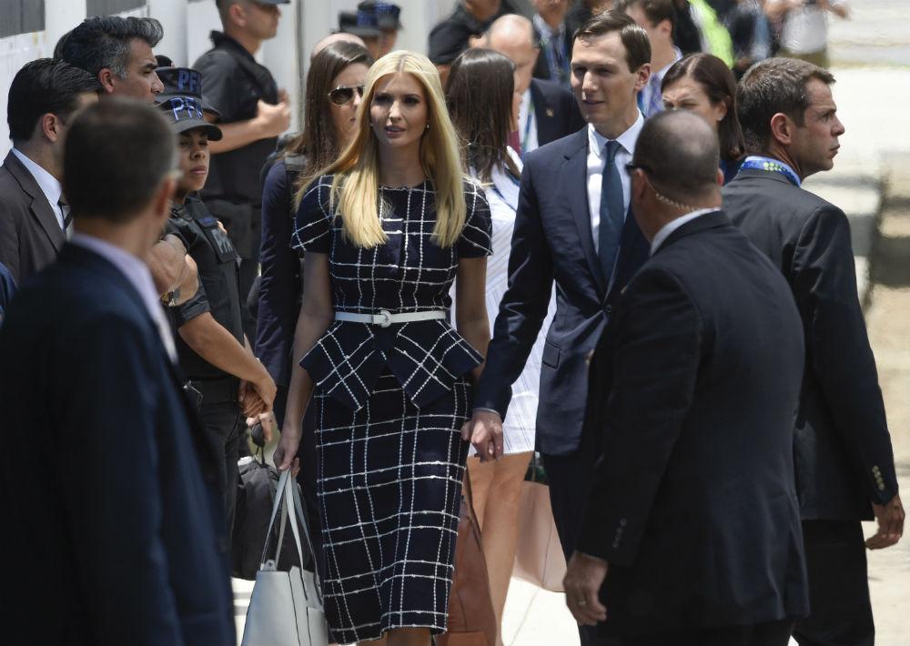 Ivanka Trump, hija del presidente de Estados Unidos, también viajó a Argentina, pero no para reunirse con las primeras damas, sino para asistir a las reuniones de los primeros mandatarios. (Foto: AP)
