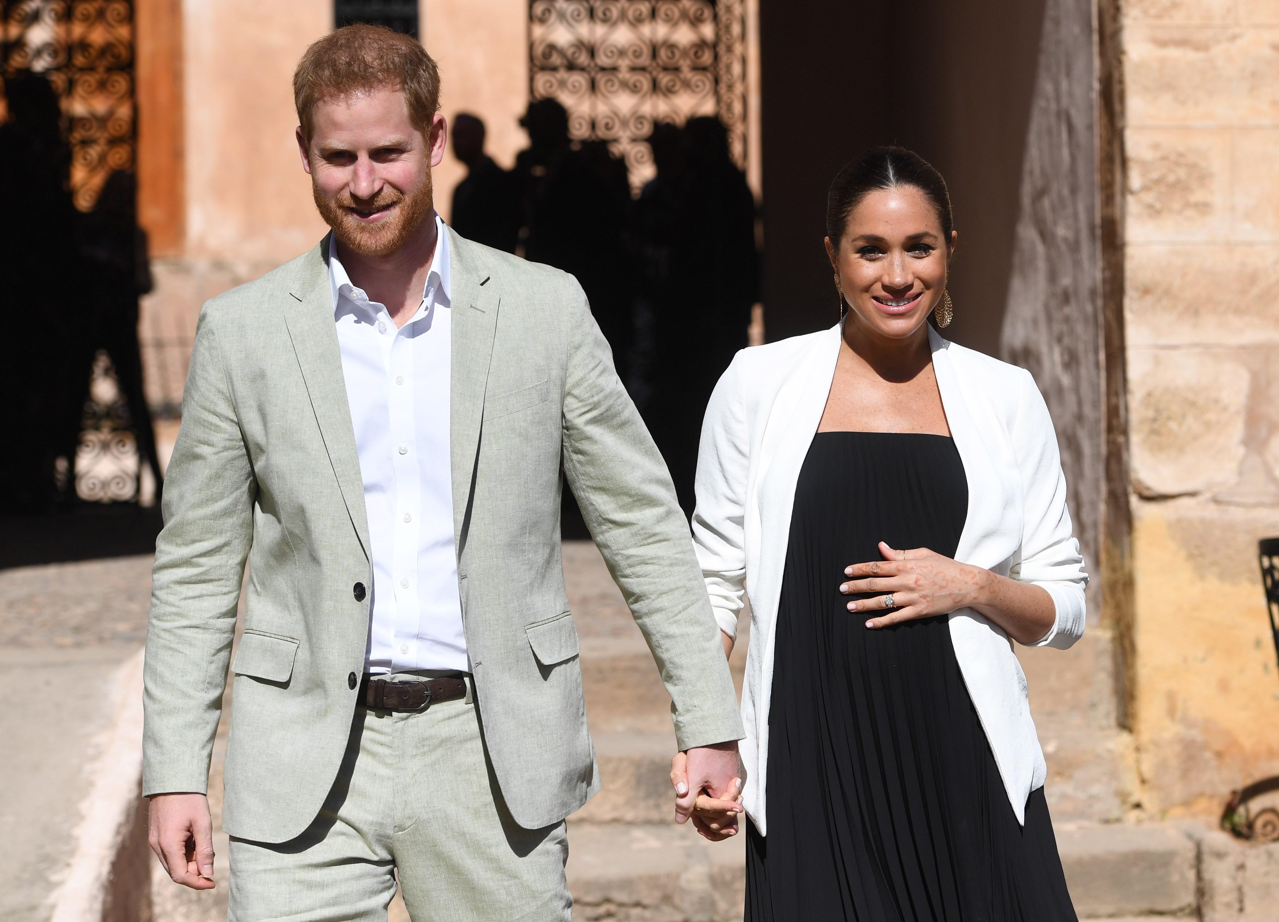 A finales de febrero, Meghan y Harry, realizaron un viaje de tres días a Marruecos, cuando la duquesa se encontraba en su séptimo mes de embarazo. (Archivo)