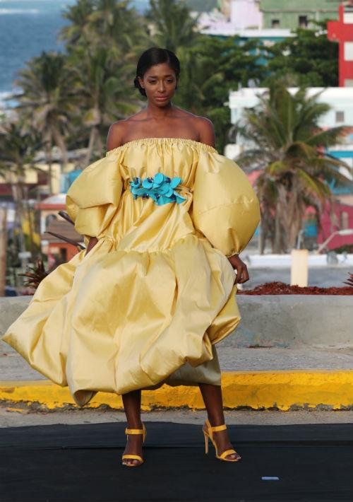 La diseñadora se adentró en la comunidad sanjuanera para presentar su nueva colección para el otoño 2019. (Foto: Juan Luis Martínez)