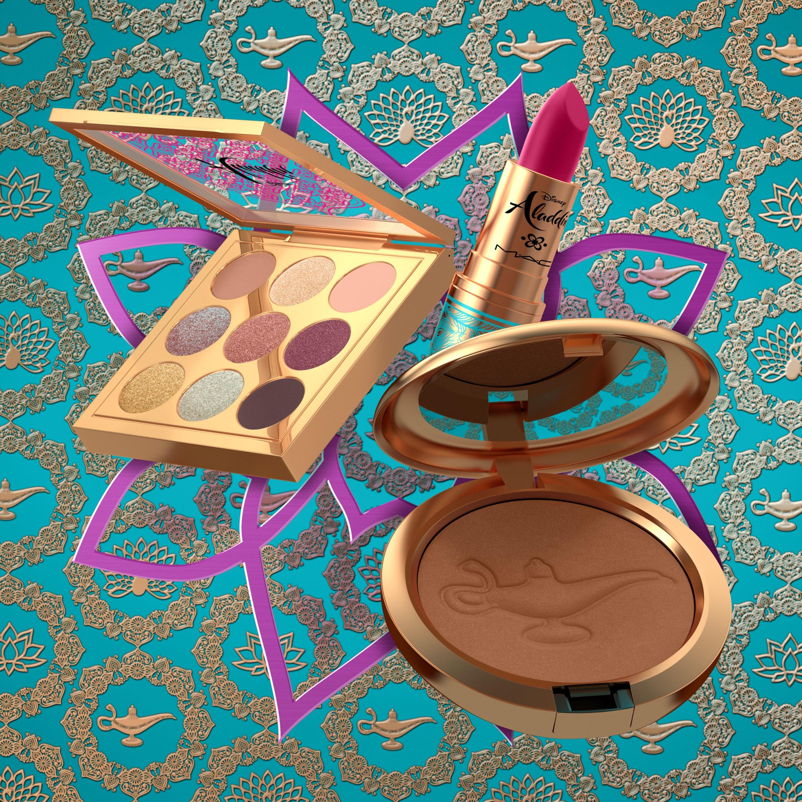MAC Cosmetics incorporó esta temporada una colección de maquillaje que incluye lápices labiales, polvos bronceadores y una paleta de sombra alusivas a la película. La actriz Naomi Scott protagoniza la campaña. (Suministrada)