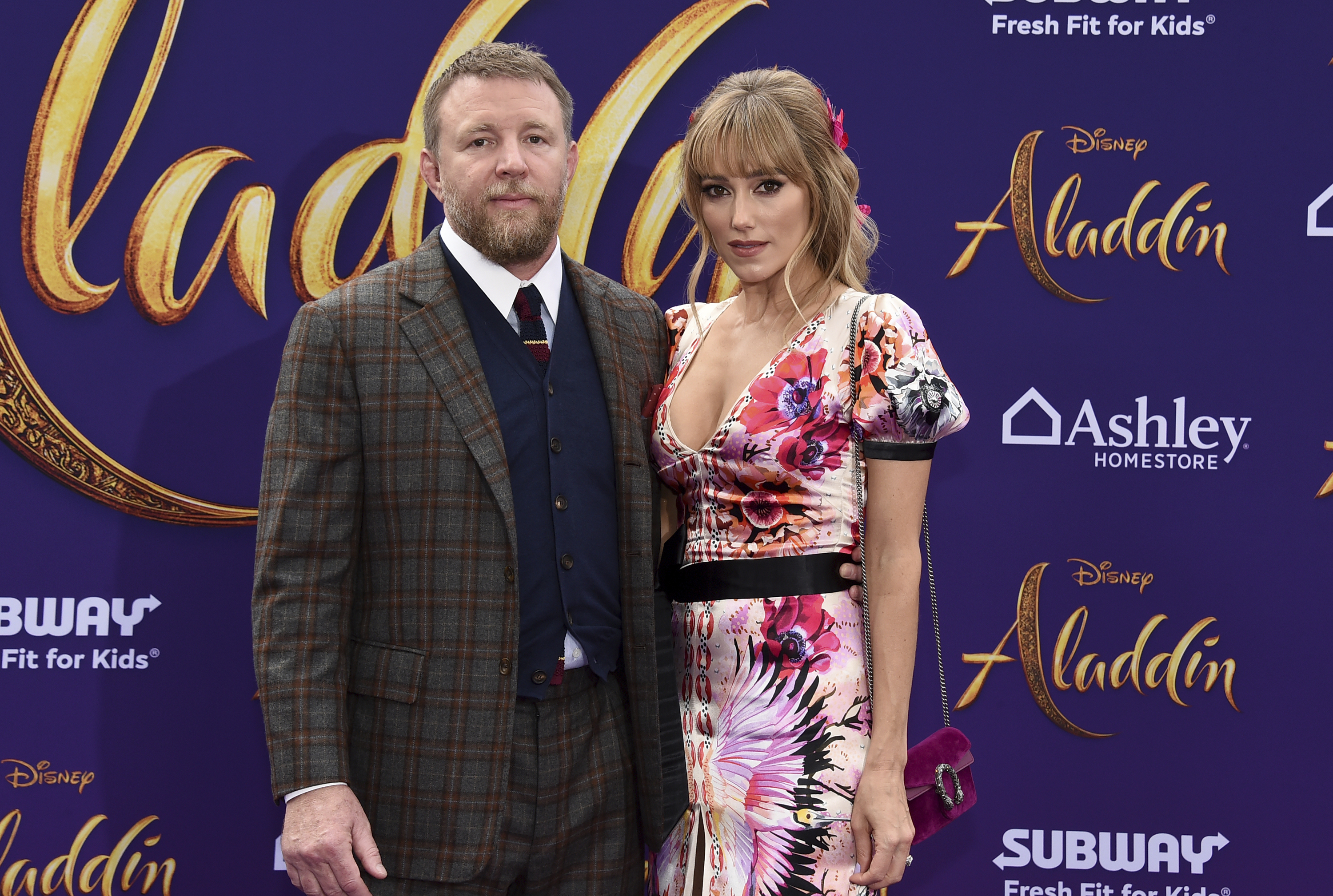 Guy Ritchie y Jacqui Ainsley. (Photo by Jordan Strauss/Invision/AP)