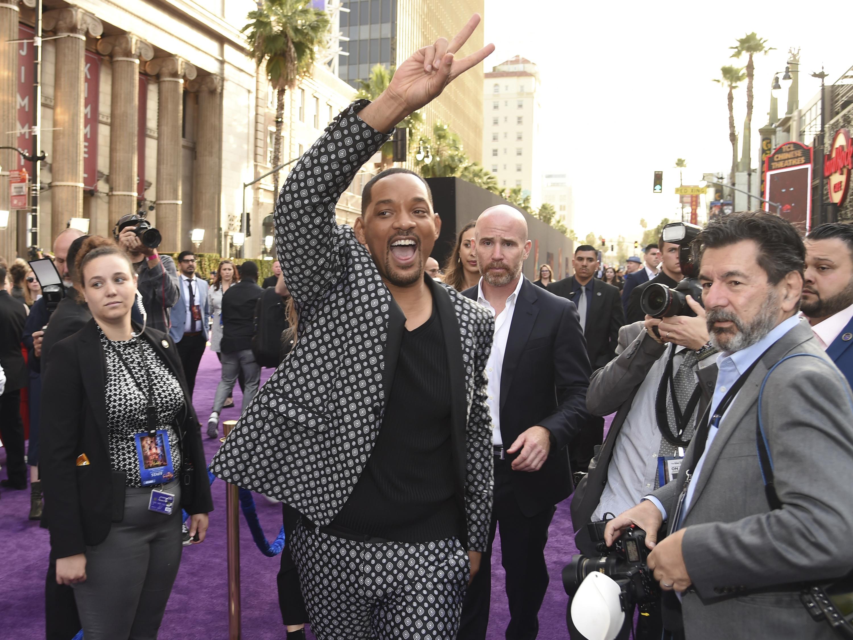 Will Smith, con su personaje de genio, fue uno de los más esperados por los fanáticos esa noche.  (Photo by Chris Pizzello/Invision/AP)