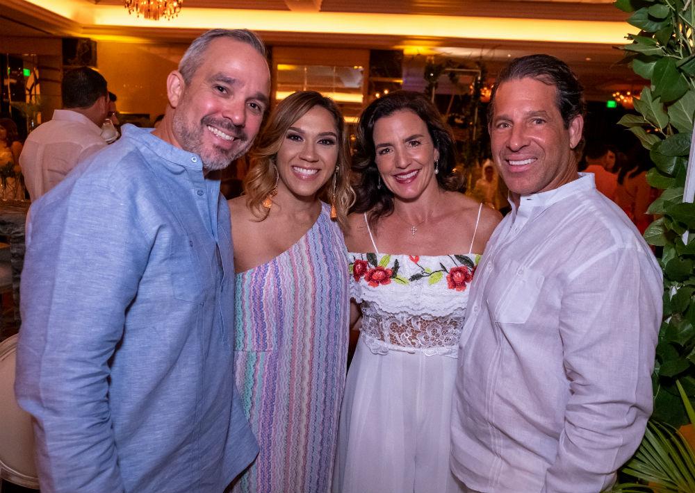 Jorge Ortiz, Joselys Ortiz, María del Mar Fournier y Millo Fournier. (Ricky Reyes/ Especial para Magacín)
