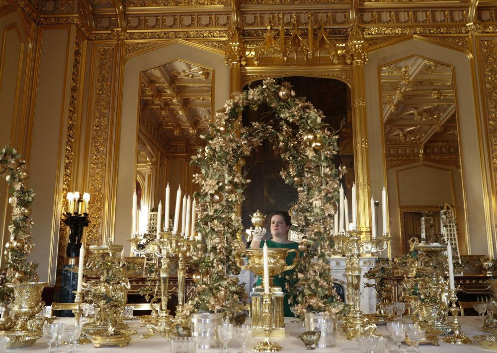 La decoración navideña es toda una tradición en el castillo de Windsor. (Foto: AP)