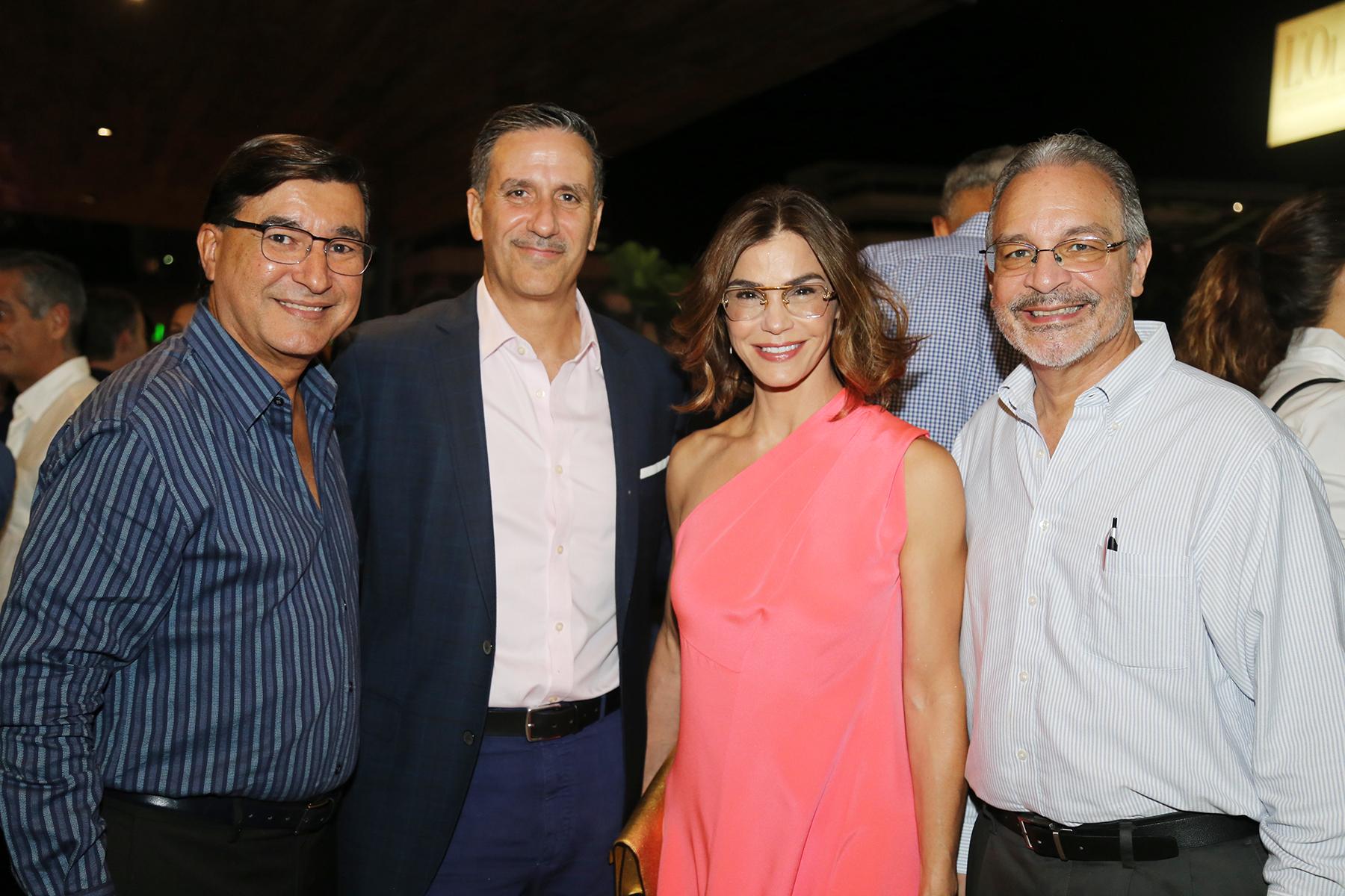 Jorge Mercado, Agustín Meizoso, Loren Ferré Rangel y Carlos Soto. (Foto: Nichole Saldarriaga)