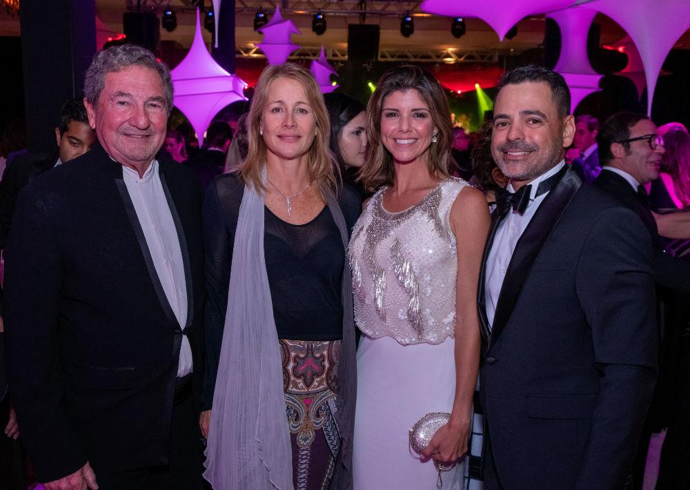 Friedel y Carolina Stubbe, con Ceci y Coqui Echevarría. (Ricky Reyes)