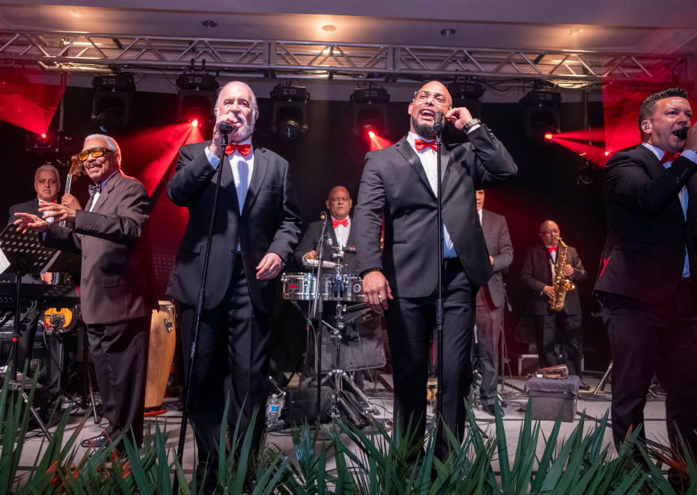 El Gran Combo de Puerto Rico amenizó parte de la velada. (Ricky Reyes)