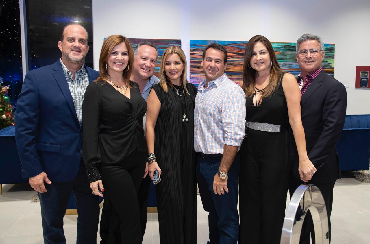 Jorge Segarra, Ingrid Segarra, Carlos Rodríguez, Alfredo Machargo, Grishelda Díaz y Pepe Dueño. (Foto: Suministrada)