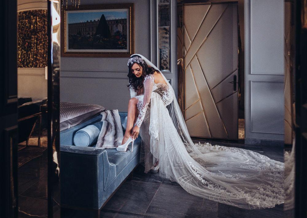 """Chacón describió el vestido como uno """"clásico pero moderno al mismo tiempo"""". (Emilio León Photography)"""