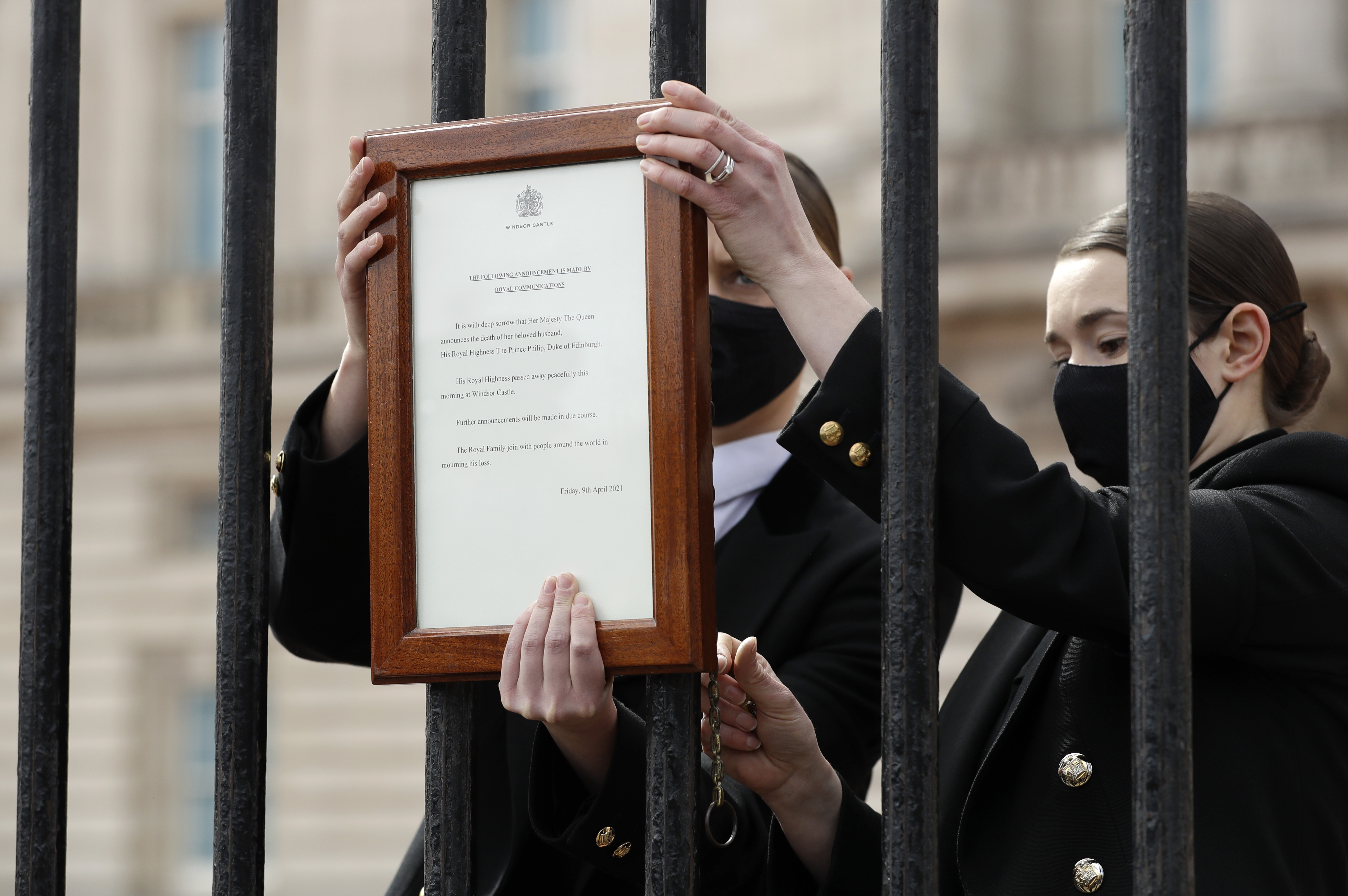 La noticia de la muerte se dio mediante un comunicado de la Casa Real británica en la mañana del 9 de abril de 2021. (AP)