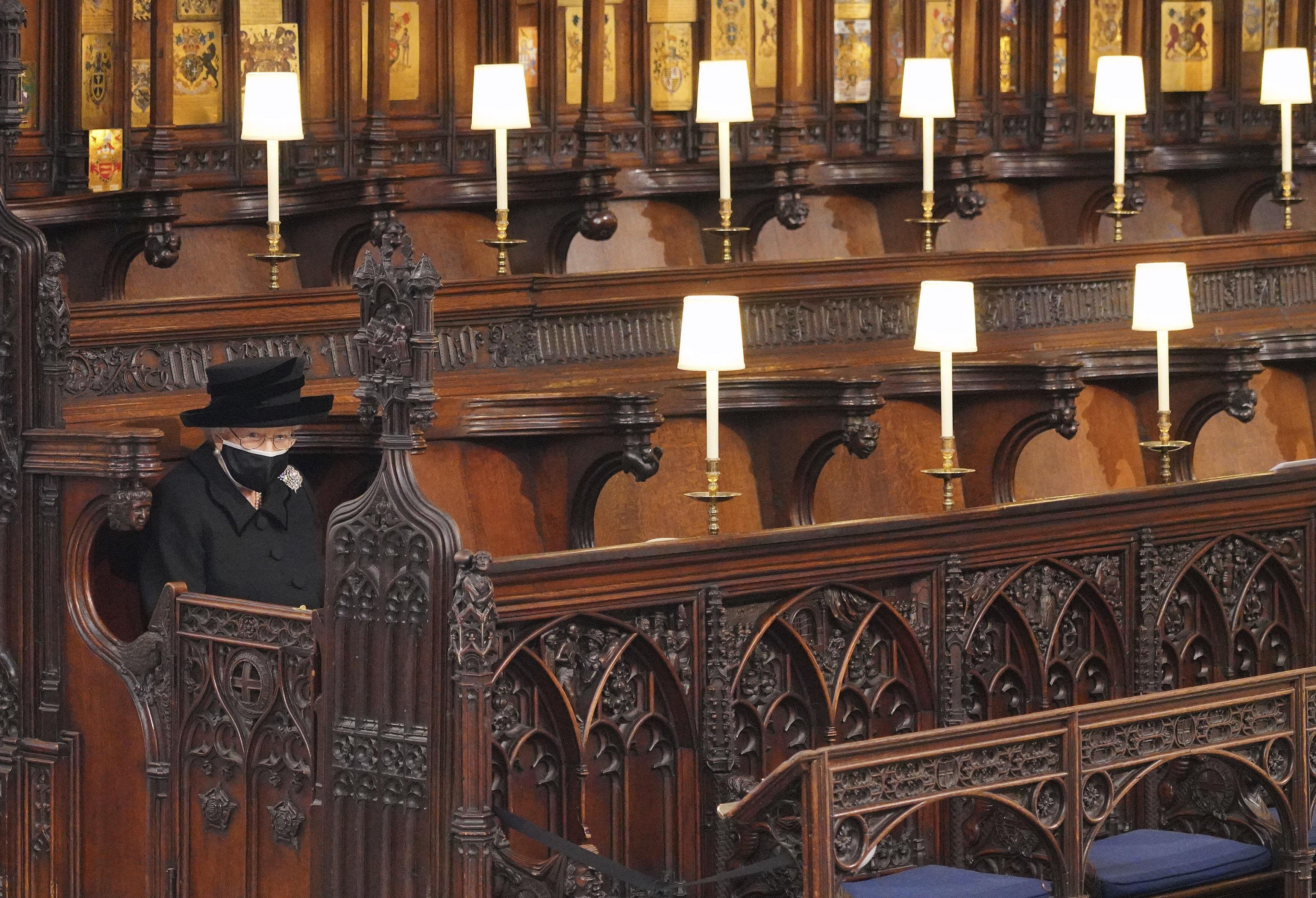 El funeral se celebró en la capilla de St. George, ubicada en el castillo de Windsor. (AP)