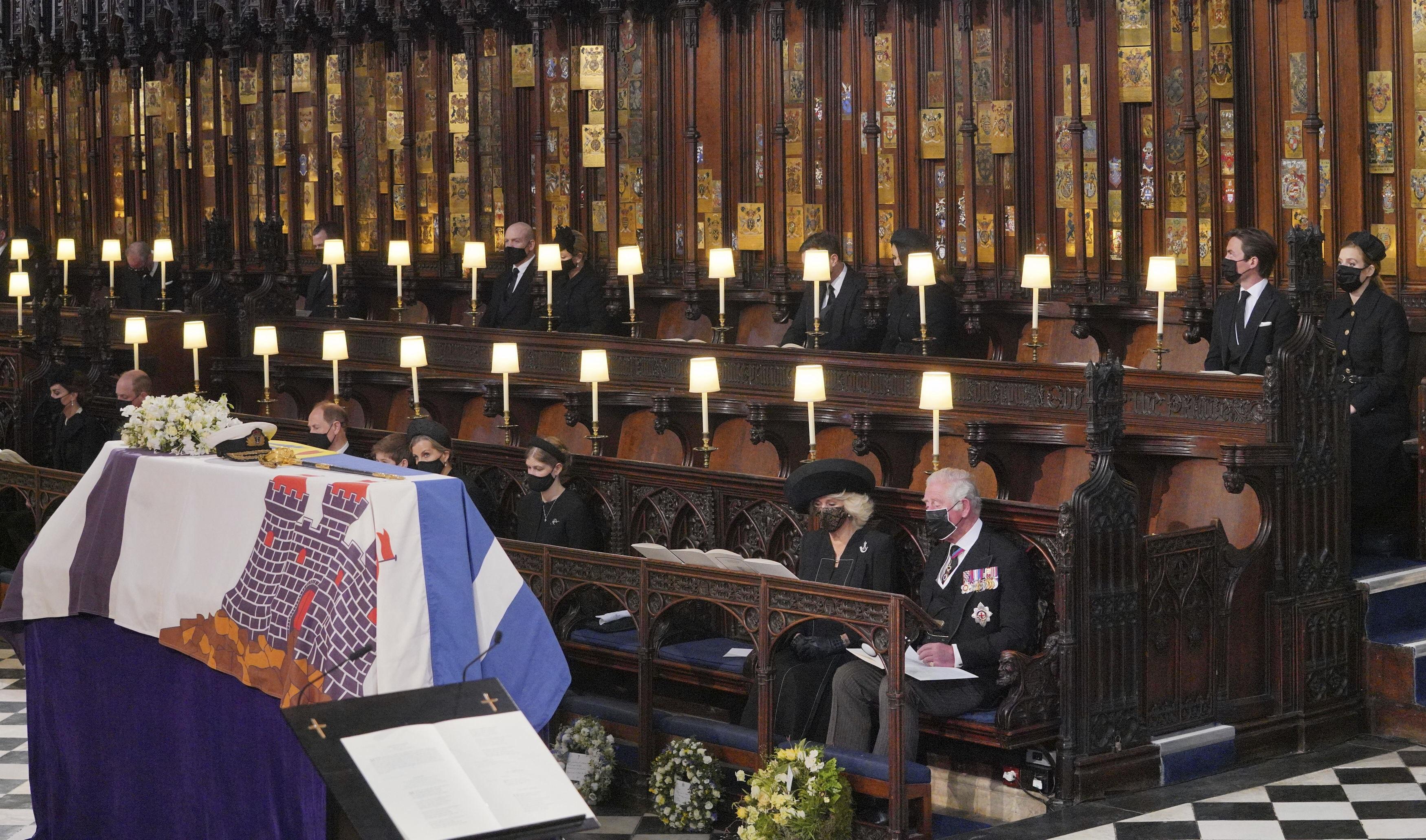 El funeral contó con la participación de 30 invitados, entre ellos los miembros más cercanos de la familia. (AP)