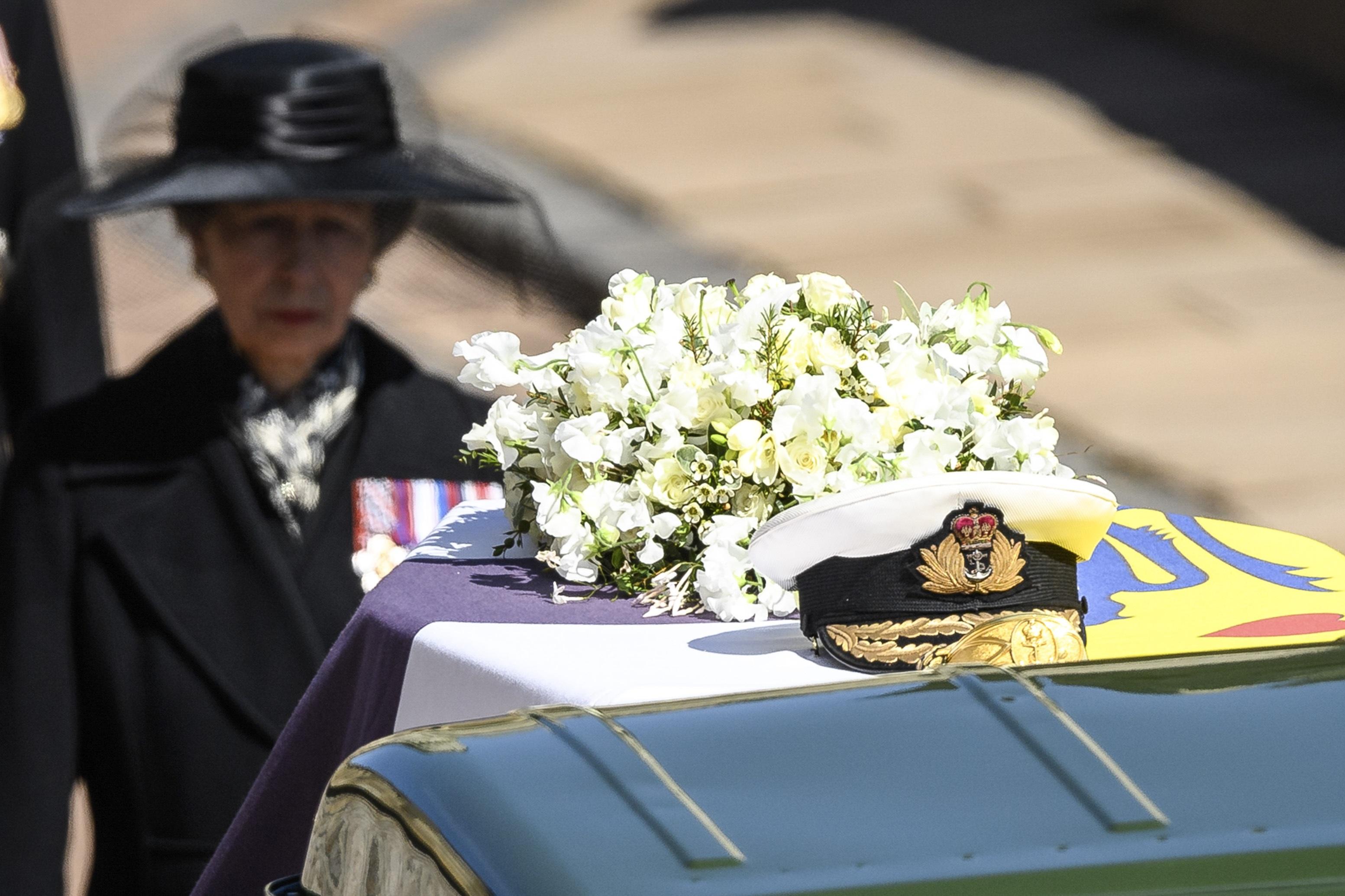 La princesa Anne caminó tras el féretro de su padre. (AP)