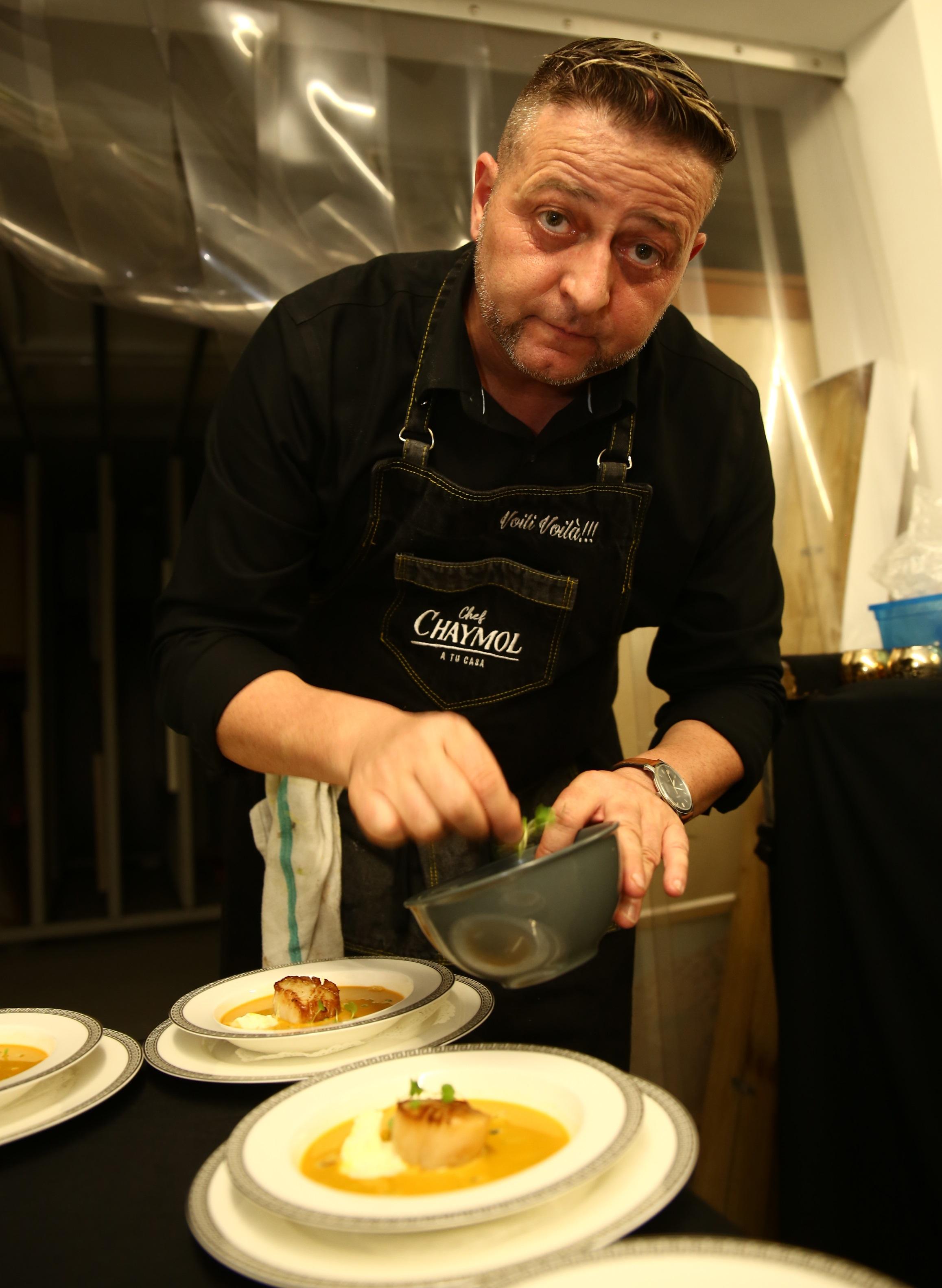 El chef David Chaymol estuvo a cargo de la preparación de la cena. (José Rafael Pérez Centeno)