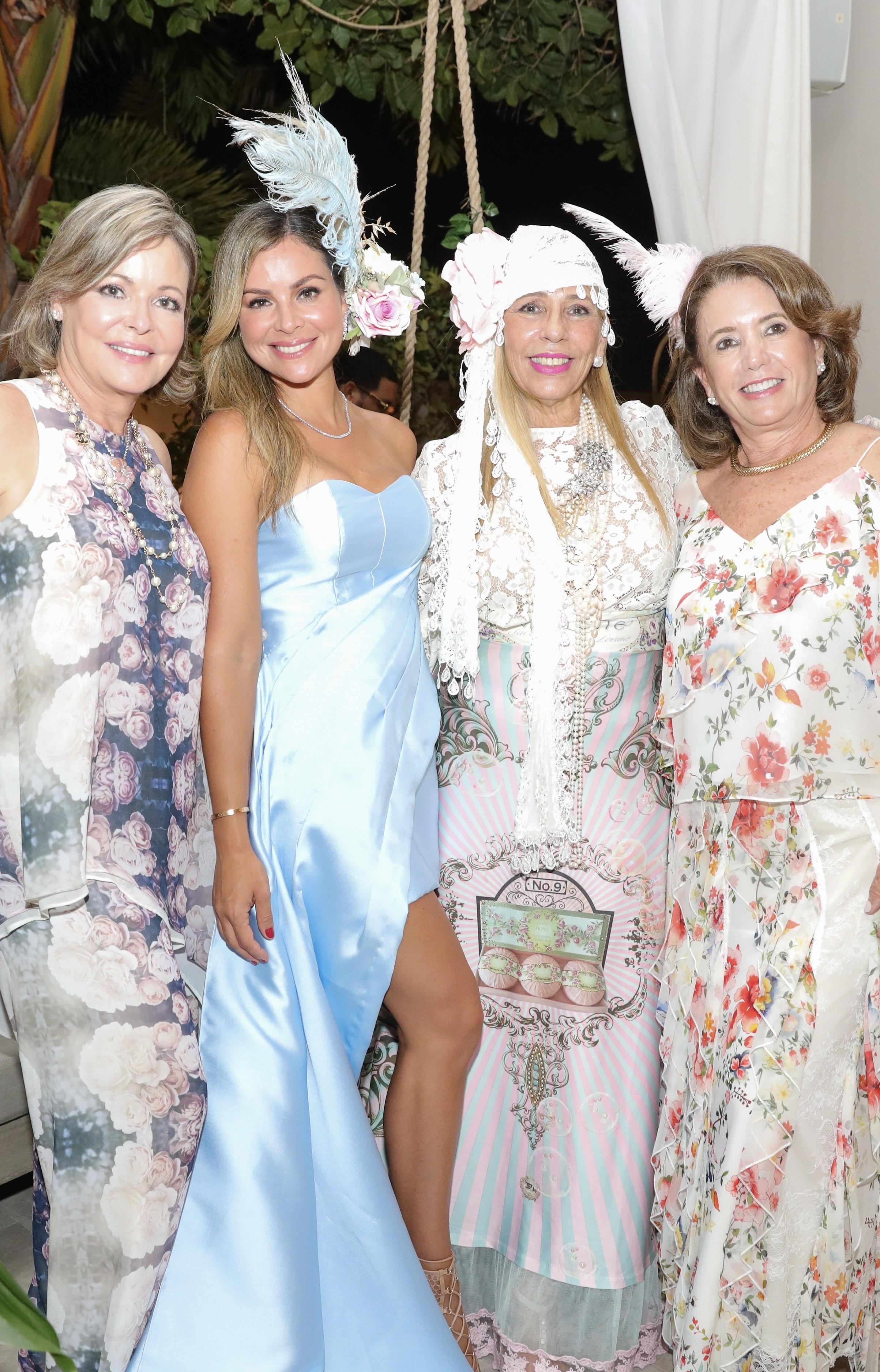 Neddy Vaillant, Mónica Ponce, Ivonne Da Silveira y Patricia de Varona. (Suministrada/Karina Margary)